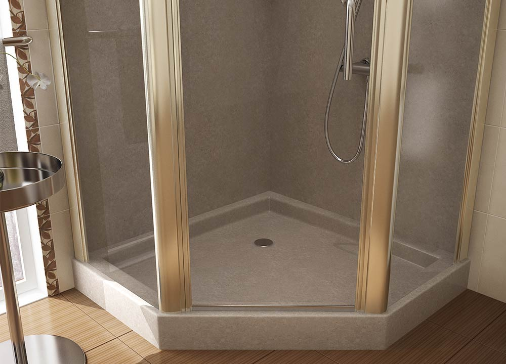 Shower Products in Custom and Standard Sizes | Mr. Marble