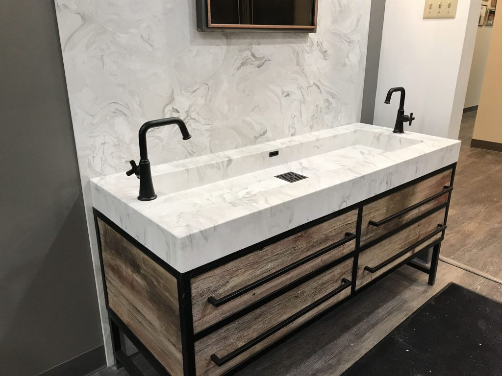 sink with 2 taps