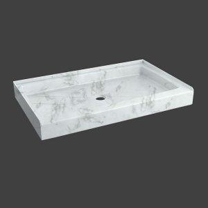 fixed shower base rectangular-M815