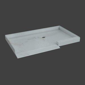 rectanangular shower base with ramp-M33