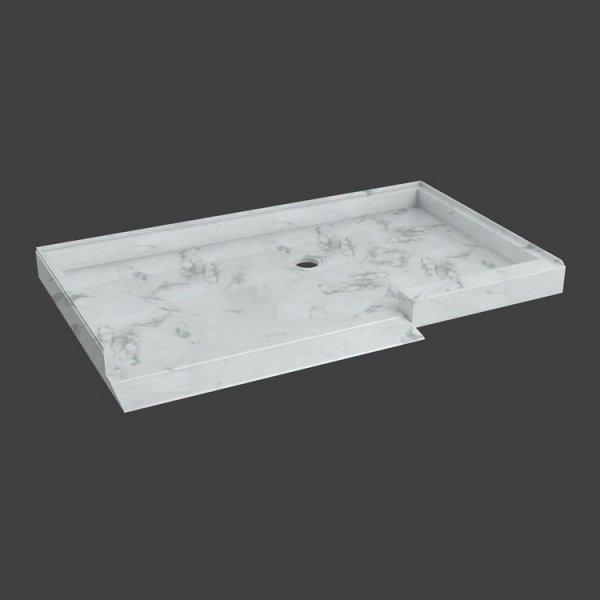 rectanangular shower base with ramp-M815