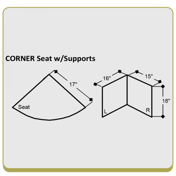 Corner Shower Seat with Support Legs