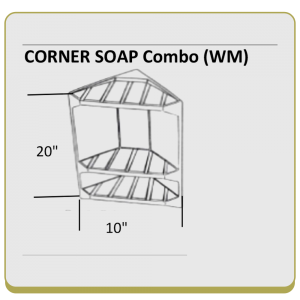 Corner Soap/Shampoo Holder