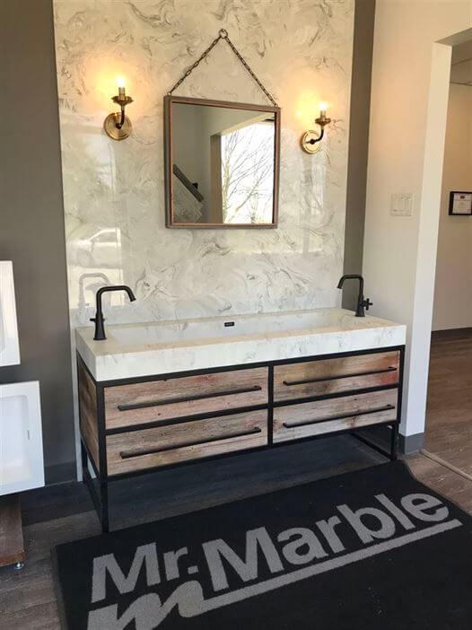 2 sinks below of mirror