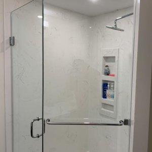 PNK12x38 Glass door soap ledge