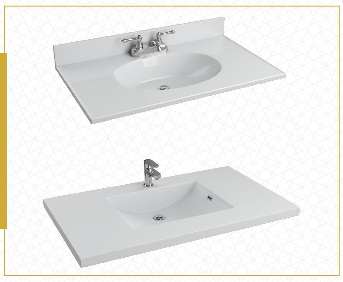 Vanity Sink Style collage