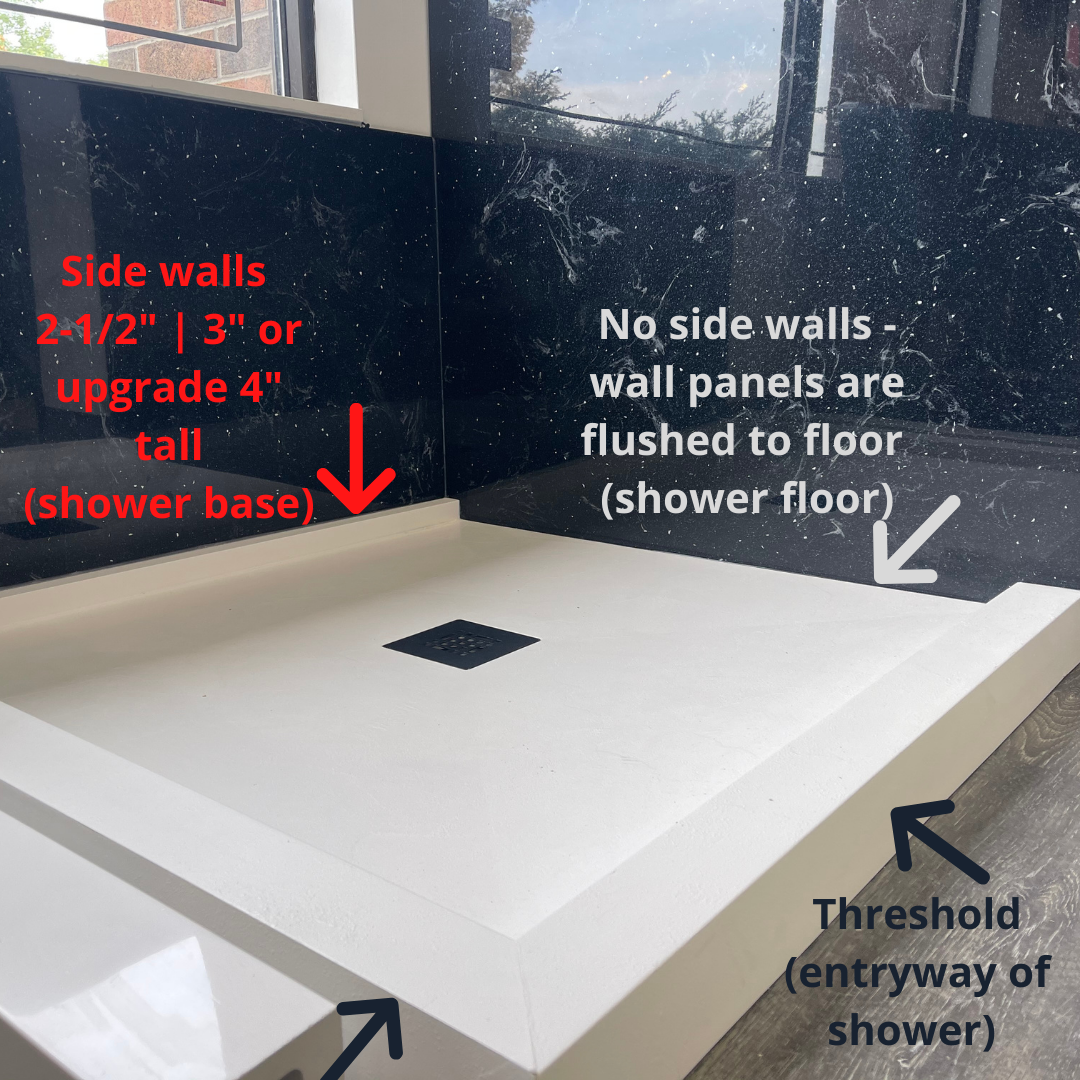shower base and floor diff faq